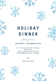 Winter snow flakes - Holidays Invitation