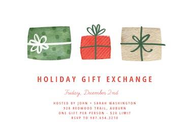 Three Gift - Holidays Invitation