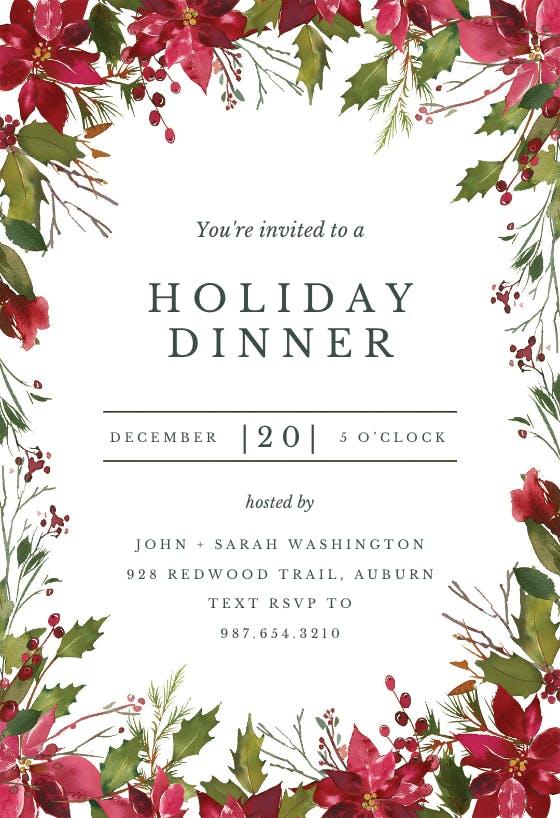 christmas party invitation templates  free