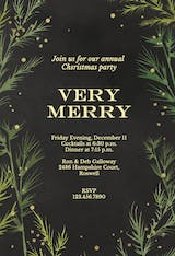 Winter greenery - Christmas Invitation