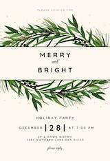 Winter Wreath - Christmas Invitation
