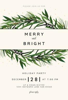 Winter Wreath - invitation