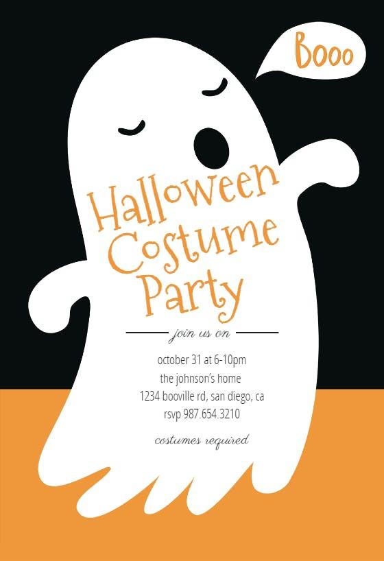Kids Halloween Costume Party Invitation Printable Halloween Ghost Invite Boo Bash Editable Instant Digital Download Template Corjl #070C