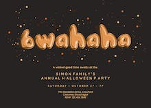 Bwahaha Balloons - Halloween Party Invitation