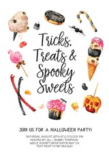 Gross Treats - Halloween Party Invitation