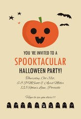Spooktacular Party - Halloween Invitation
