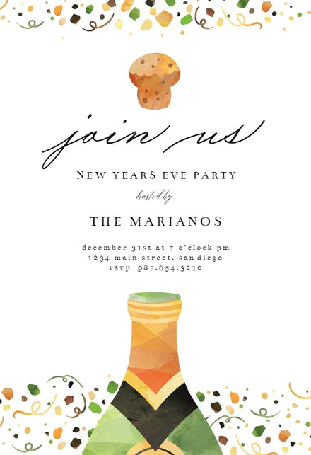 Invitaciones De Año Nuevo Gratis Greetings Island