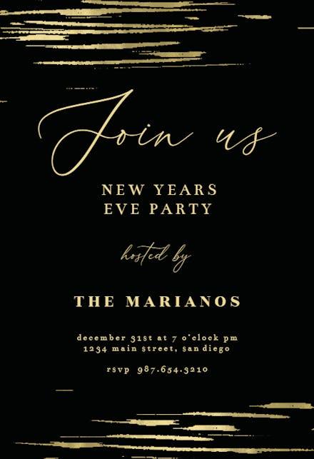 New Year S Eve Invitation Templates Free Greetings Island