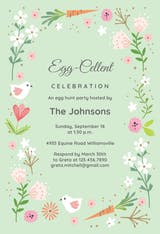 Easter bloom - Easter Invitation
