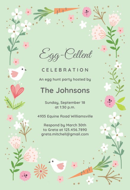 Easter Invitation Templates Free Greetings Island