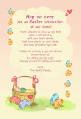 Hop on Over - Easter Invitation