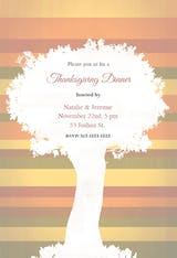A Tree - Thanksgiving Invitation