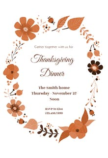thanksgiving invitation templates free greetings island