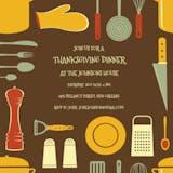 Cook's Tools Border - Thanksgiving Invitation