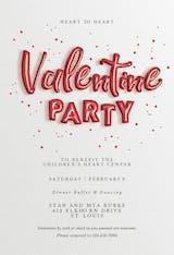 Balloons 'n' Love - Valentine's Day Invitation