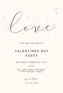love valentines day invitation