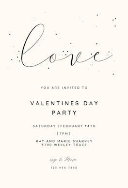 Love - Valentine's Day Invitation