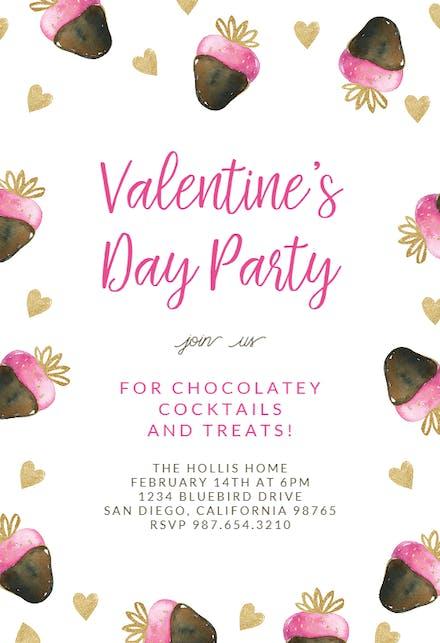 Valentines Day Invitation Templates Free