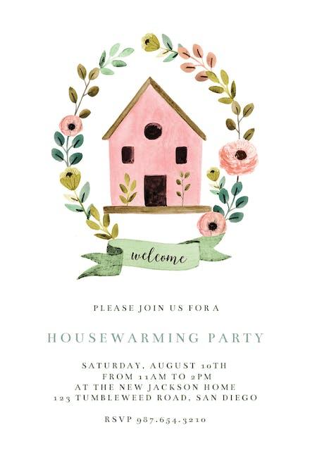 Invitaciones Para Inauguración De Hogar Gratis Greetings
