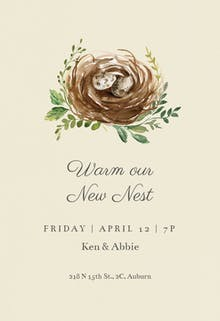 Birds nest - Housewarming Invitation