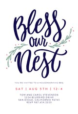 Bless Our Nest - Housewarming Invitation