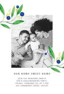 Blueberry fields - Housewarming Invitation