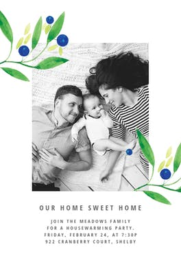 Blueberry fields - Housewarming Invitation
