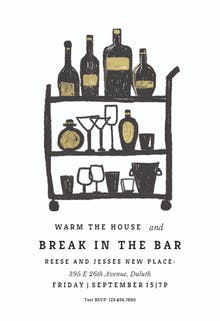 Break in the bar - Cocktail Party Invitation