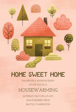 Cozy pink - Housewarming Invitation