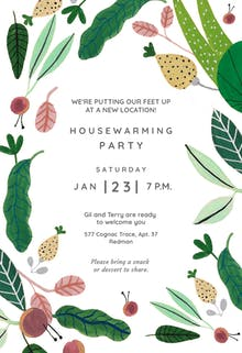 Desert blooms - Housewarming Invitation