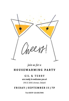 Elegant martini - Housewarming Invitation