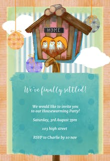 Housewarming invitation templates free greetings island finally settled housewarming invitation stopboris Choice Image