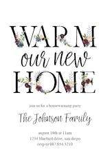 Floral Letters - Invitación Para Inauguración De Casa Nueva