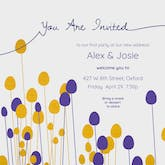 Flower Forms - Housewarming Invitation