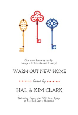 Keyed Up - Housewarming Invitation