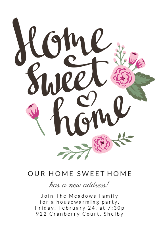 Still Home Housewarming Invitation Template Free