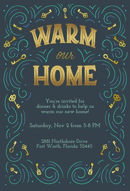 Warm our Home - Housewarming Invitation
