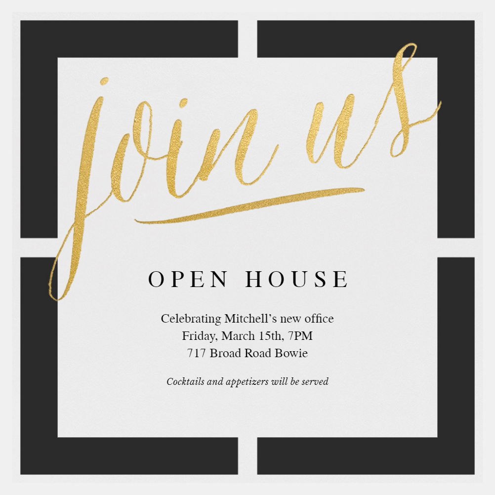 block party open house invitation template free. Black Bedroom Furniture Sets. Home Design Ideas