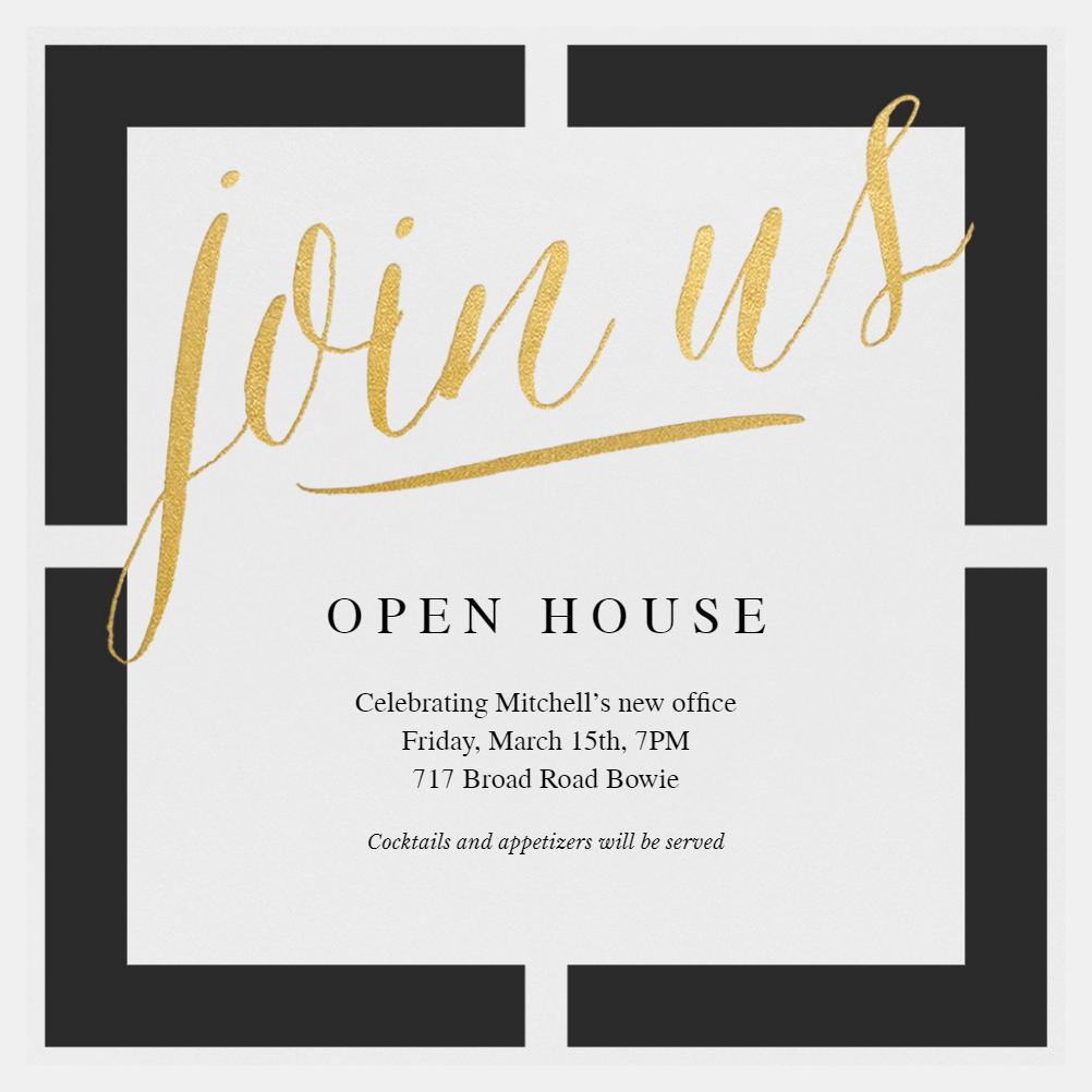 Open House Invitation Template (Free