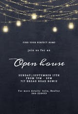 Sparkling mason jar lights - Open House Invitation