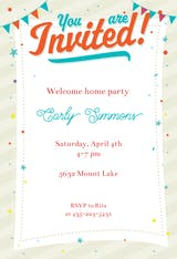 Confetti and Corner Flags - Printable Party Invitation