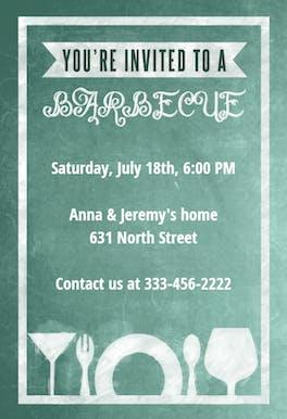 A Barbecue Board - BBQ Party Invitation