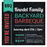 American Diner Style BBQ - BBQ Party Invitation