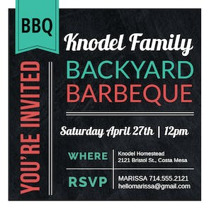 American Diner Style BBQ - Party Invitation