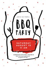 Apron - BBQ Party Invitation