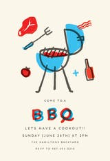 BBQ illusion - BBQ Party Invitation