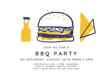 Burgers for all - BBQ Party Invitation