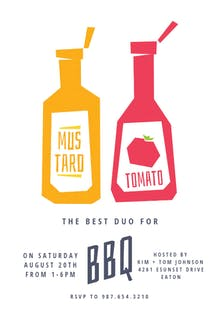 Duo - BBQ Party Invitation