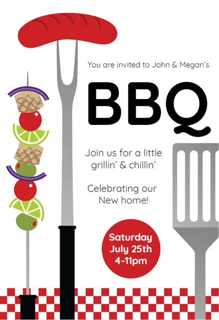 B is for Baby BBQ Shower Invitation - Forever Fab Boutique