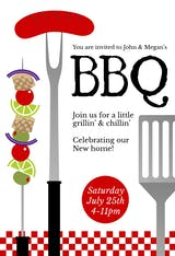 Grillin And Chillin - BBQ Party Invitation